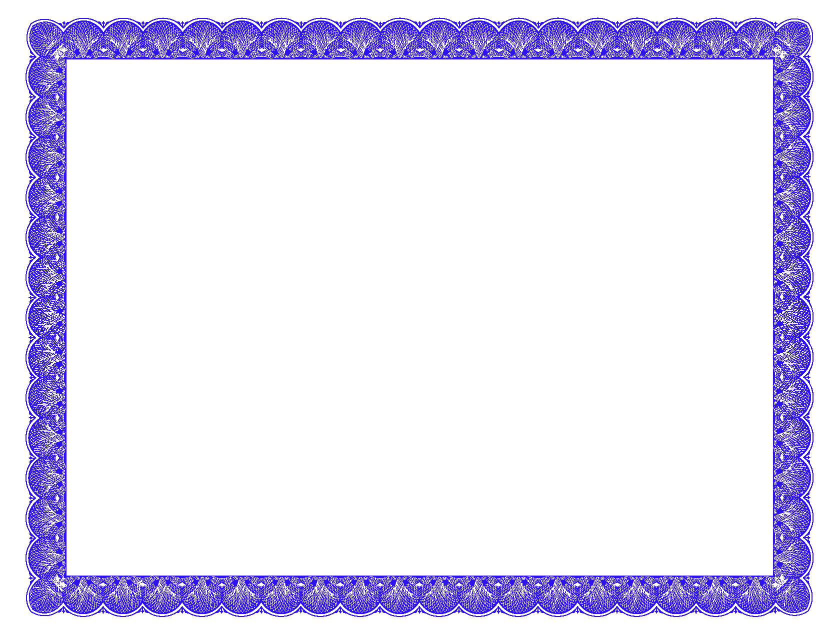 Fancy Certificate Border Templates